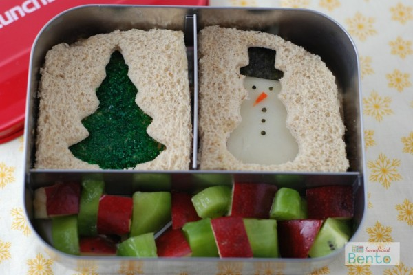 Christmas Sandwiches Bento